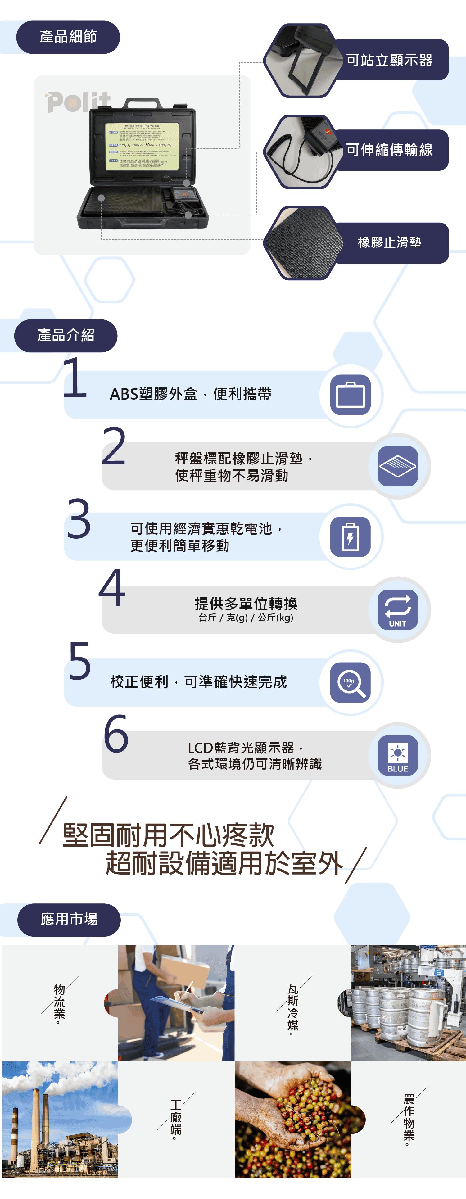 HBS 攜帶型電子秤 產品介紹 | 沛禮國際 Polit 電子秤專賣