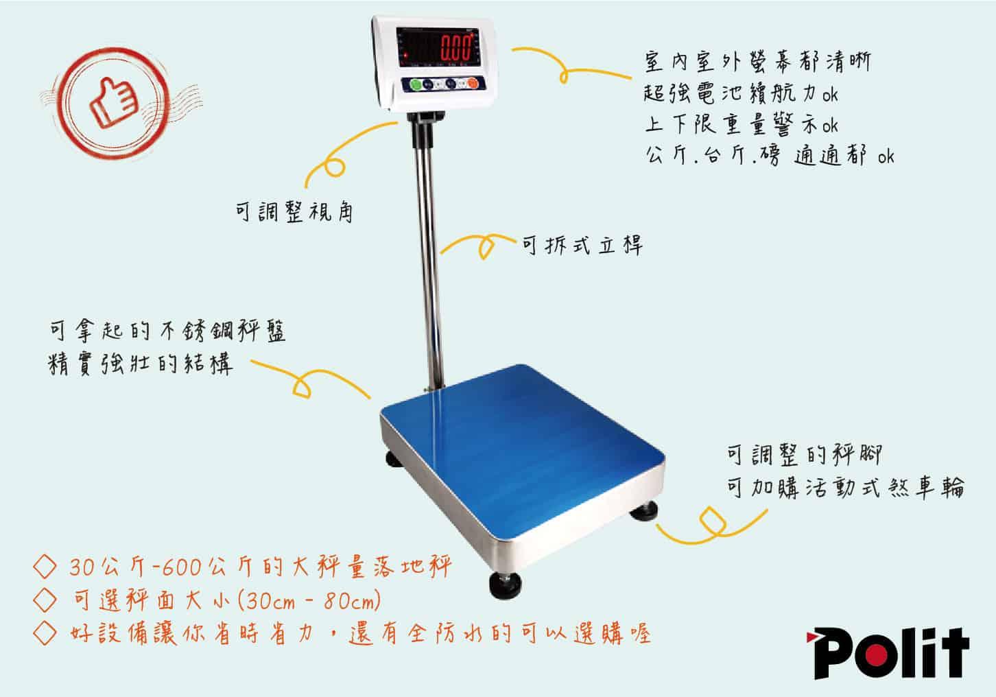 台秤介紹圖 | 沛禮國際 Polit 電子秤專賣