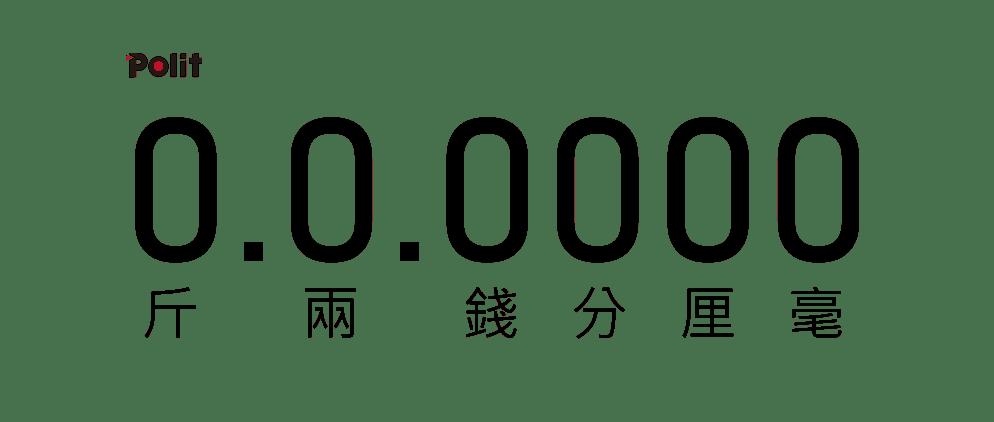 斤兩錢分厘毫 | 沛禮國際 Polit 電子秤專賣